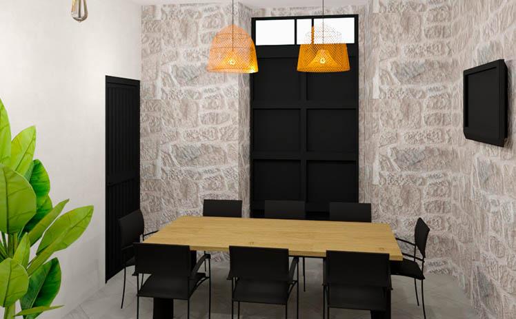 Esta imagen muestra la Sala de reuniones en Tribu, tu espacio coworking