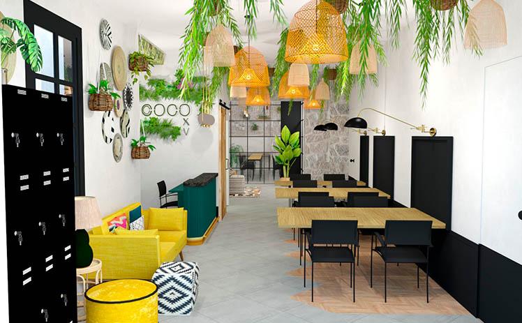 Esta imagen muestra la Sala de puestos flexibles en Tribu, tu espacio coworking