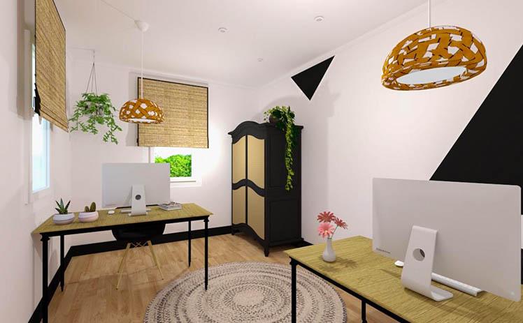 Esta imagen muestra una Oficina para equipos de más de una persona en Tribu, tu espacio coworking